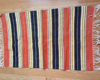 Antique/Vintage Handwoven Throw/Runner.  Mexican?  Southwest?  Central or South America?  Graphic and Beautiful
