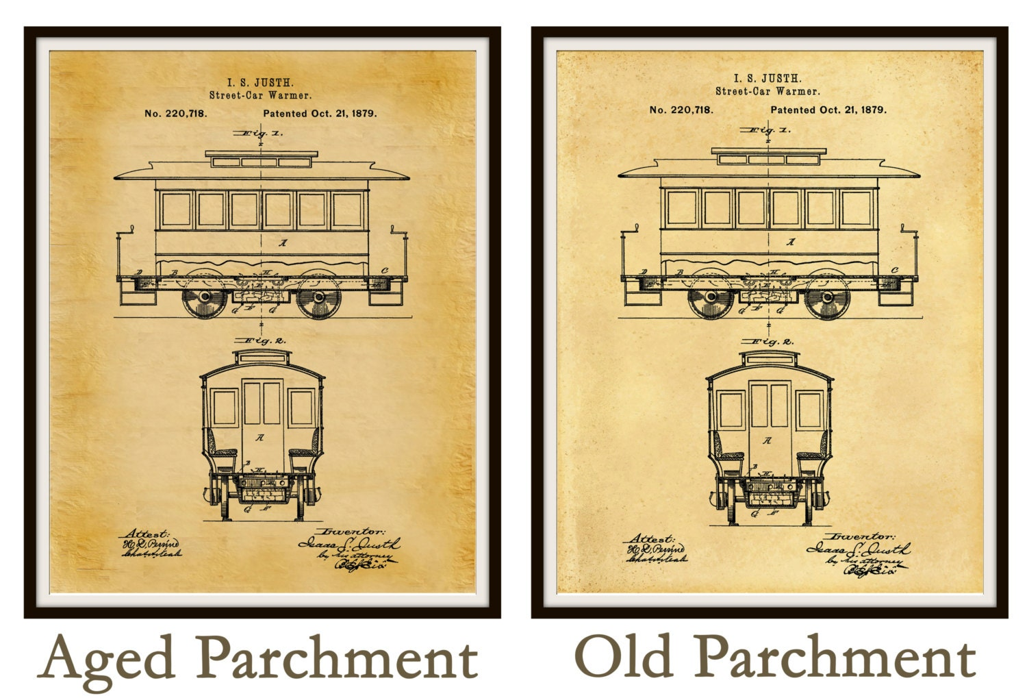 Patent 1879 Streetcar Patent - Trolley Patent - Railway Patent ...