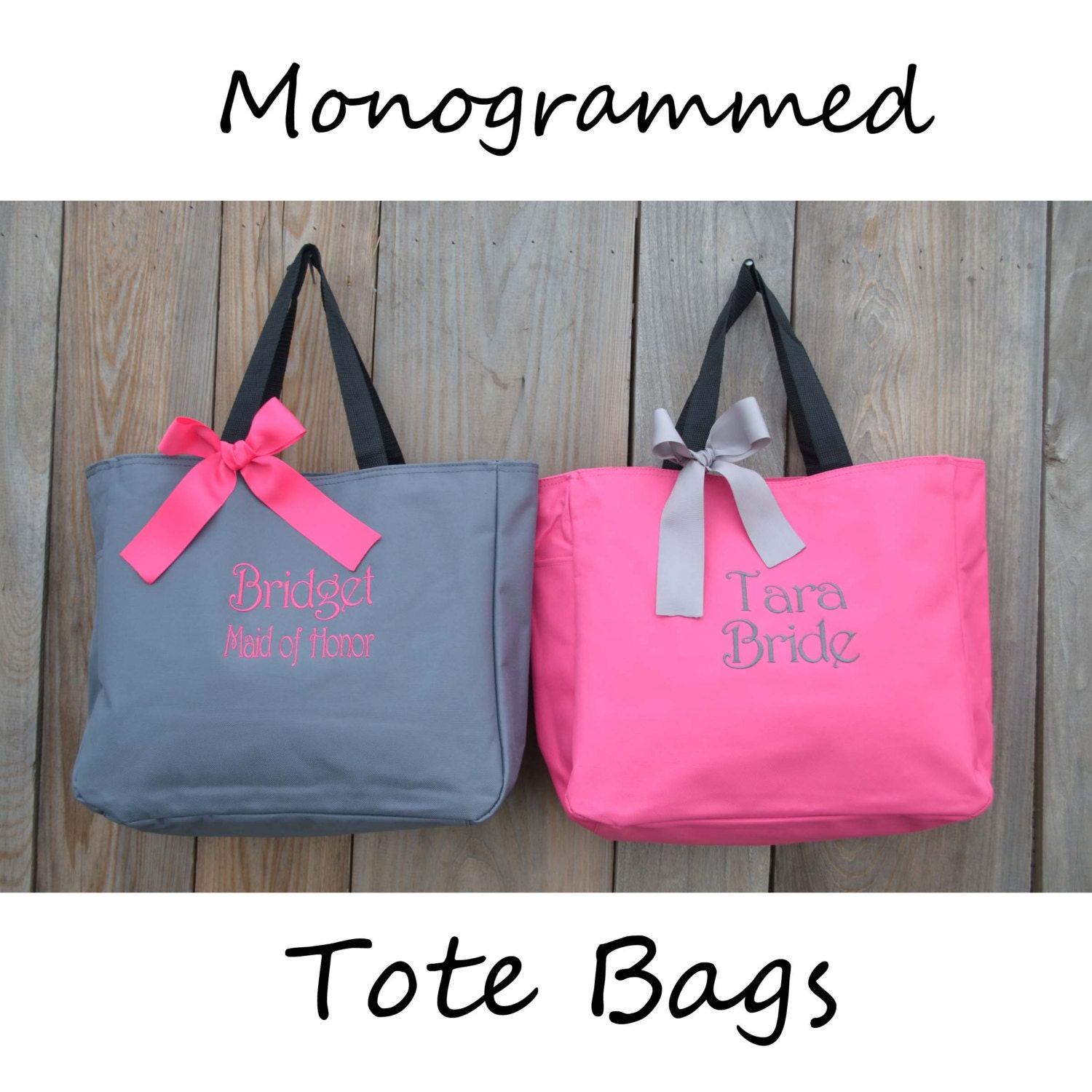 Bridesmaids Gifts Personalized Tote Bags Personalized Tote