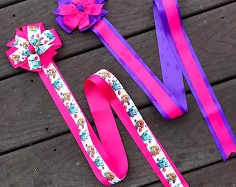 Hair bow holder paw patrol bow holder skye and everest hair bow holder bow holder pink and purple hair clip holder