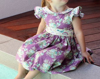 girls and baby party dress