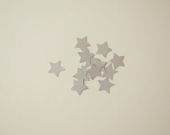 50 Star Confetti Silver