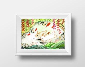 Friends Forever - Illustration - Downloadable Print, Instant Download, Printable Artwork