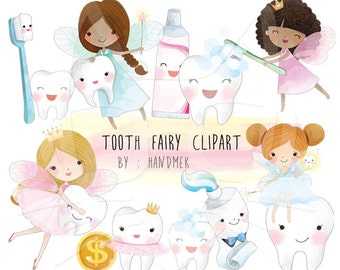 Cite tooth Fairy Clipart , Fairy clipart,Teeth Clipart, Cute fairy clipart Instant Download PNG file - 300 dpi.