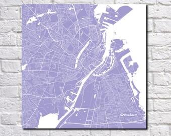Copenhagen Street Map Print Map of Copenhagen City Street Map Denmark Poster Wall Art 7116S