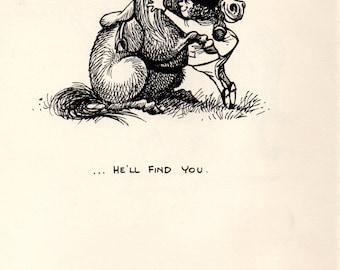 Original 1962 Funny THELWELL HORSE / PONY Vintage Art Cartoon Print