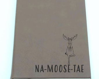 Yoga Moose - Leatherette Journal - Free Shipping