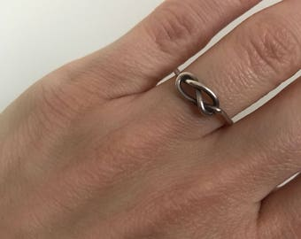 Vintage silver knot ring