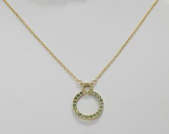 AUGUST birthstone pendant,Swarovski peridot pendant,Swarovski August pendant,August Crystal pendant,August necklace,Peridot necklace