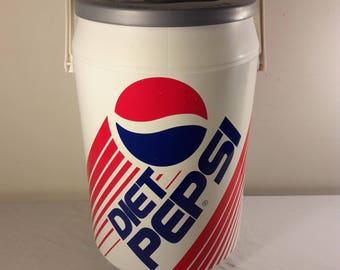 Vintage Diet Pepsi Plastic Cooler