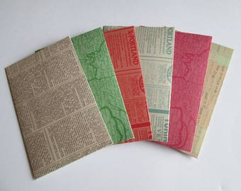 Envelopes >> set of 6 stationery, snail mail, pen pals, letter writing