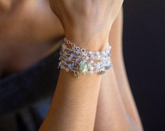 Rainbow Moonstone Necklace, Labradorite Necklace, long beaded necklace, bohemian necklace, bohemian wedding, Raindrops LIMITED EDITION