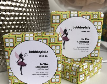 "Lime Soap, Lime Soda, Shea Butter Soap, Handmade Soap, ""In The Limelight"""