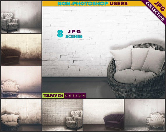Living room vrc2 vintage armchair interior 8 jpg blank for Instant interior wall