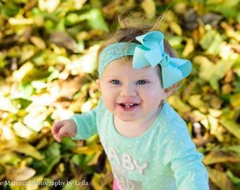 Lace Baby Bow Headband.Baby Hair Bow Lace Headband.Aqua Bow Aqua Headband.Baby Hair Bows.Baby Girl Headband.Baby Lace Headband.Lace Bow