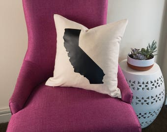 California Pillow | Los Angeles Pillow | San Diego Pillow | San Francisco Pillow | California Home Decor | State Throw Pillow | Home State |