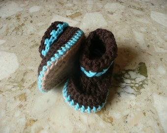 Crochet Pattern Baby Booties - Bonny Baby Boots (4 Sizes 0 - 12 mths)