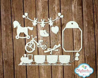 Scrapbooking laser cut chipboard children