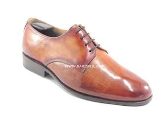 Mens Leather Shoes. Men's Oxford Shoes. Leather Oxford Shoes. Handmade Mens Shoes. Custom Made Shoes by Barismil.