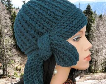 Crochet Cloche hat pattern Women crochet hat pattern Crocheted hat beanie Cloche hat 1920's style hat patterns crochet beanie hat pattern
