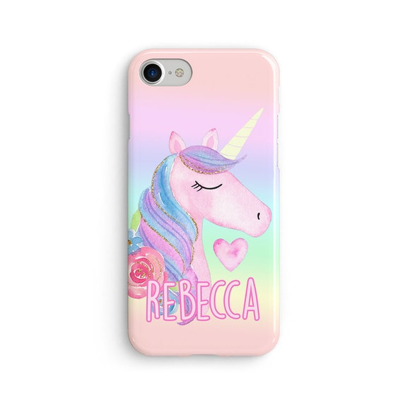 Custom name unicorn iPhone X case - iPhone 8 case - Samsung Galaxy S8 case - iPhone 7 case - Tough case 1P090