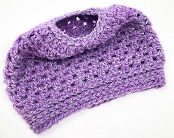 Messy Bun Hat Crochet Pattern, Messy Bun Beanie, Easy Crochet Pattern, PDF Pattern, Crochet Hat Pattern, Easy Crochet
