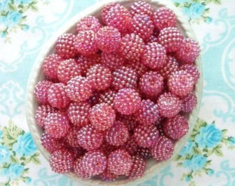 Berry Beads - Juicy Plum - 15mm - Set of 20