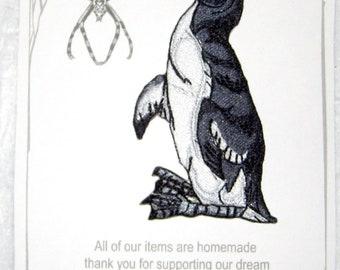 The Great Auk Bird Pinguinus impennis Iron On Patch