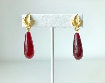 Bloody Mary. Burgundy stone drops.