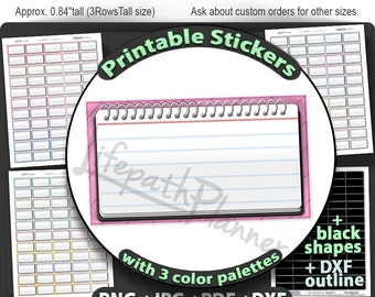 School planner stickers college half box Printable for Erin Condren planner stickers homework planner stickers notebook stickers for writers