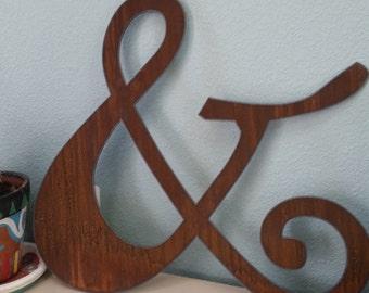 Custom Ampersand symbol recycled steel CUSTOM ampersand 20 inch metal art