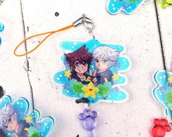 DISCOUNTED Sora and Riku Kingdom Hearts charm, acrylic charm, soriku