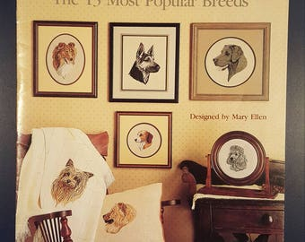 Best Loved Dogs Leisure Arts Counted Cross Stitch Leaflet