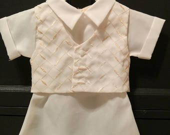 Vintage Christening ~ Vintage Baby ~ Special Occasion ~ Formal Wear for Baby ~ Vintage Onesie ~ Newborn