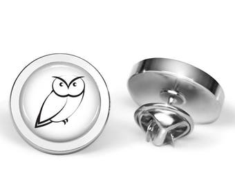 Artsy Owl Pin - Owl Brooch - Owl Lover Gift (Lifetime Guarantee) P0037