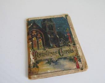 Vintage Christmas Carols Songs Booklet/Sheet Music Booklet