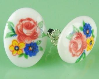 Little Vintage Glass Post Earrings