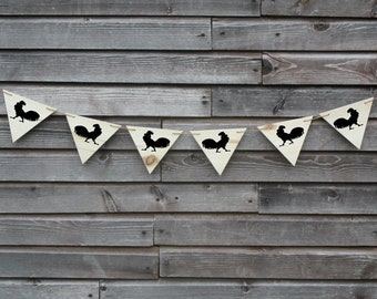 Farm animals banner.  Personalized farm wooden pennent banner sign.  Customized farm banner. Cows, pigs, roosters, goats, horses.
