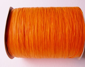 100 Yards of Orange Paper Raffia