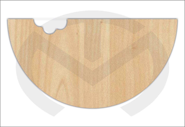 Watermelon Unfinished Wood Laser Cutout Door - Wooden door hanger template