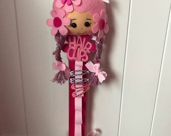 Girly pink hair clip/headband tidy