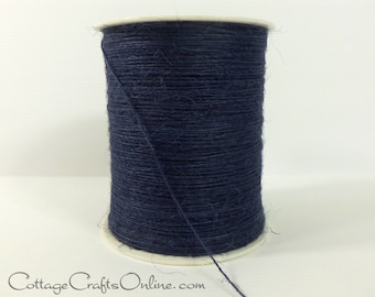 Navy Blue Burlap Cord String Jute Cord 400 YARD ROLL - May Arts #03 - Packaging / Twine / Thread / Gift Wrap / Craft Ribbon