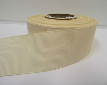Grosgrain Ribbon 3mm 6mm 10mm 16mm 22mm 38mm 50mm Rolls, Cream, 2, 10, 20 or 50 metres, Ribbed Double sided,