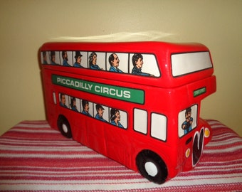 Marshall Field's Piccadilly Circus Bus Cookie Jar