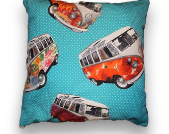 Volkswagen Hippy bus cushion cover of T1 50 x 50cm