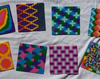 Colorful coaster set - perler mini beads