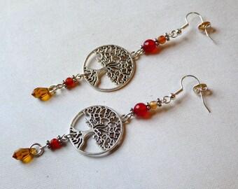 Earrings - Golden Forest