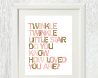 Printable Wall Art Twinkle Twinkle Little Star Do You Know