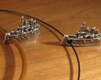 Cast Sterling Silver Vintage Ship Pendant