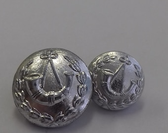 Military Buttons which I believe are Australian Light Infantry. These are Anodised Aluminium a material usee for buttons in the 60's